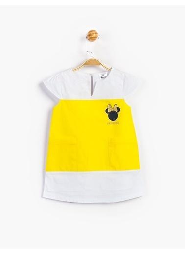 Minnie Mouse Elbise Sarı